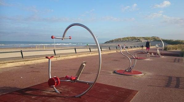 Aire de fitness extérieur au Touquet