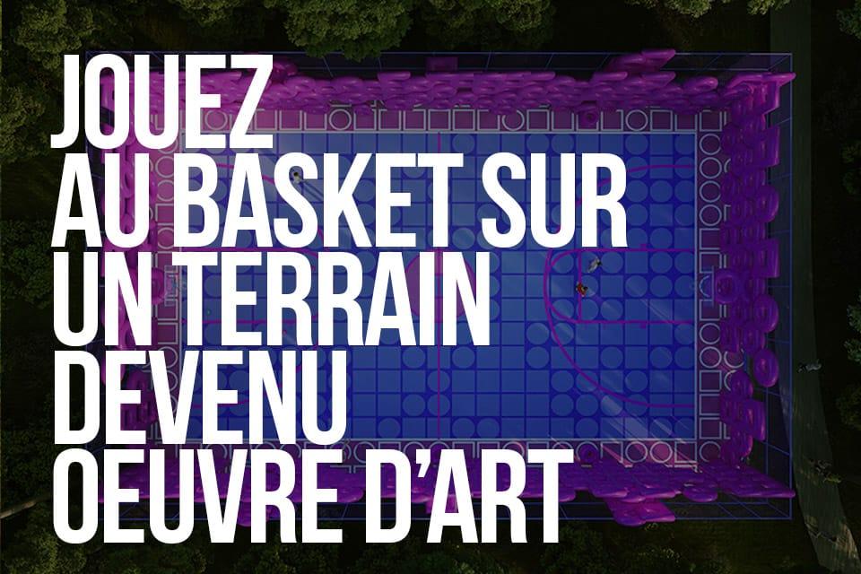 Jouez au basket sur un terrain devenu oeuvre d'art